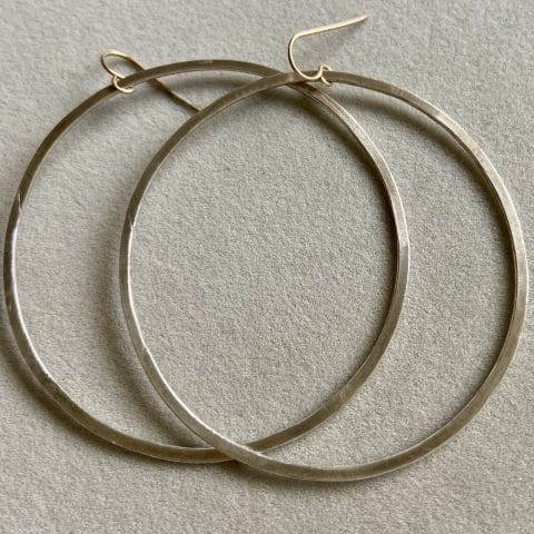 claire van holthe hoop earrings - silver hoop earrings - extra large hoop earrings - handcrafted hoop earrings - ancienne ambiance