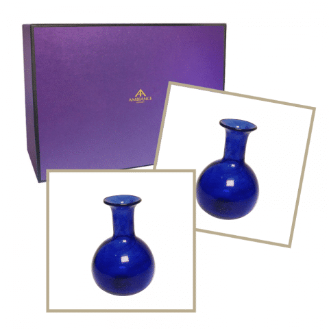 la soufflerie blue piccola vase twin gift set ancienne ambiance