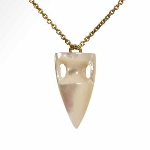 maximos jewellery - large Mother Of Pearl amphora pendant necklace - ancienne ambiance