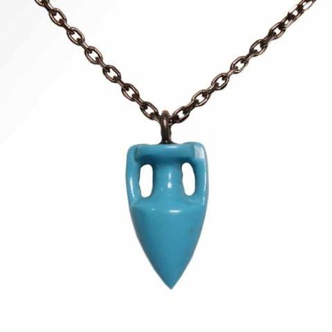 ancienne ambiance - maximos jewellery - Turquoise amphora pendant - maximos zachariadis