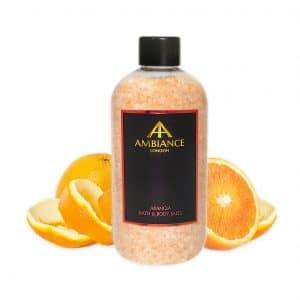 Luxury Orange Scented Bath Salts - Orange Zest Salts - Ancienne Ambiance