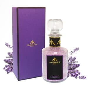 ancienne ambiance luxury lavender bath salts in glass bottle