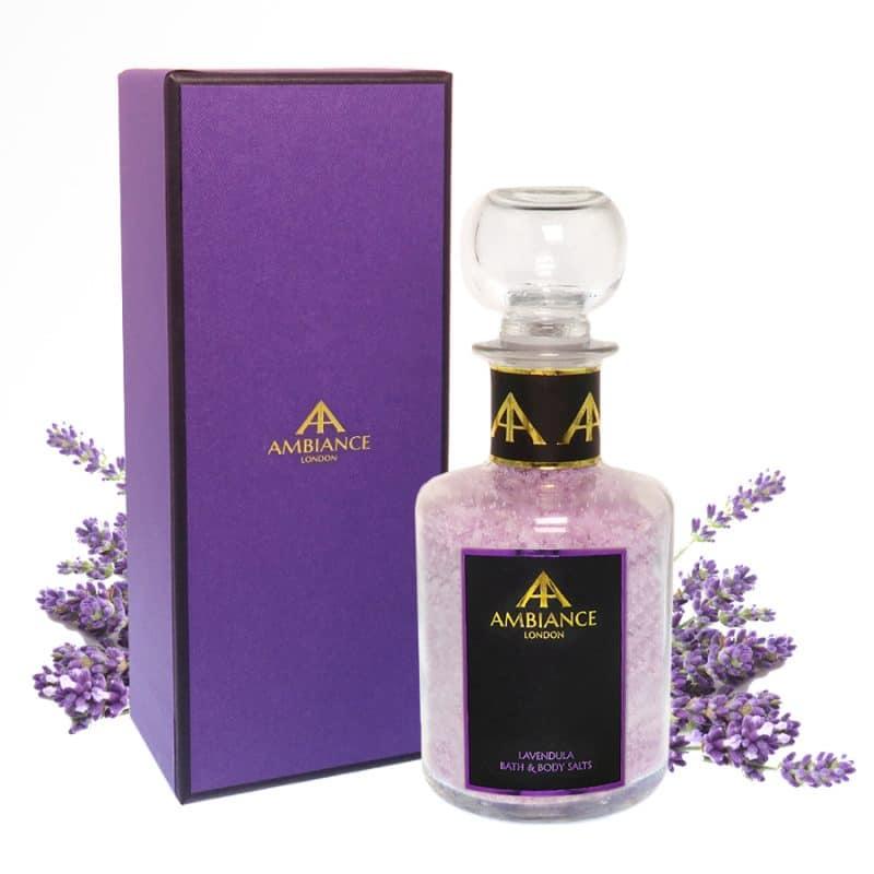 ancienne ambiance luxury lavender bath salts in glass bottle