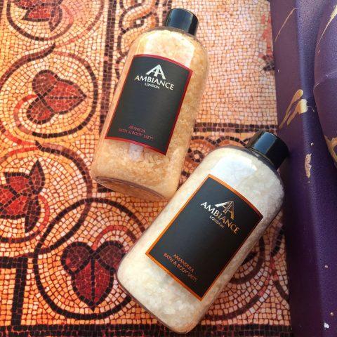 ancienne ambiance luxury bath salts - orange bath salts - almond bath salts