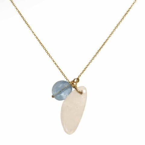 ancienne ambiance - claire van holthe - moonstone aquamarine necklace