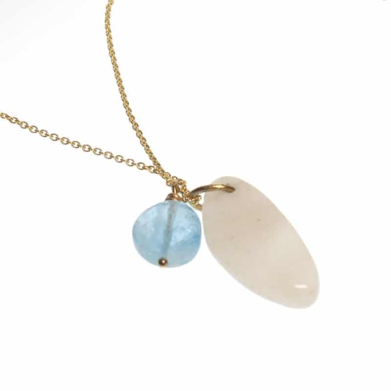 claire van holthe - moonstone aquamarine necklace - ancienne ambinace