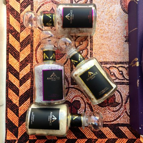 ancienne ambiance luxury bath salts in glass bottles - special edition collection