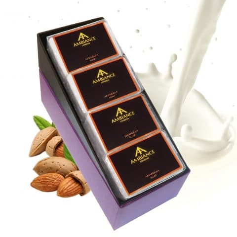 ancienne ambiance luxury soap bars - luxury almond soap set - white luxury soap set