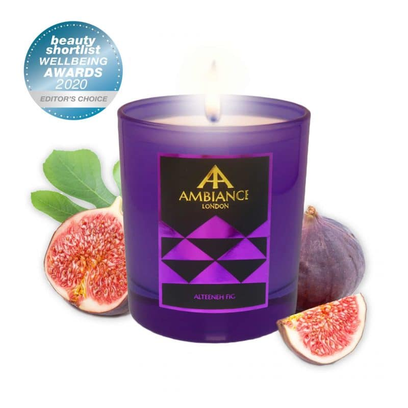 ancienne ambiance london - alteeneh fig scented candle - beauty shortlist awards winner - wellbeing candle winner