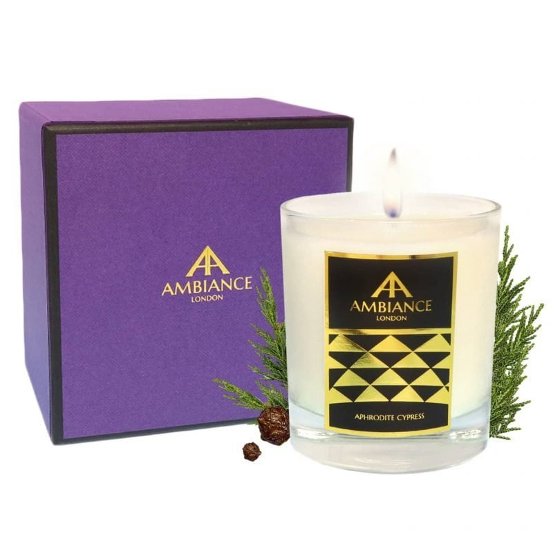 ancienne ambiance - Aphrodite Luxury Candle - Cypress Scented Candle - giftboxed candle