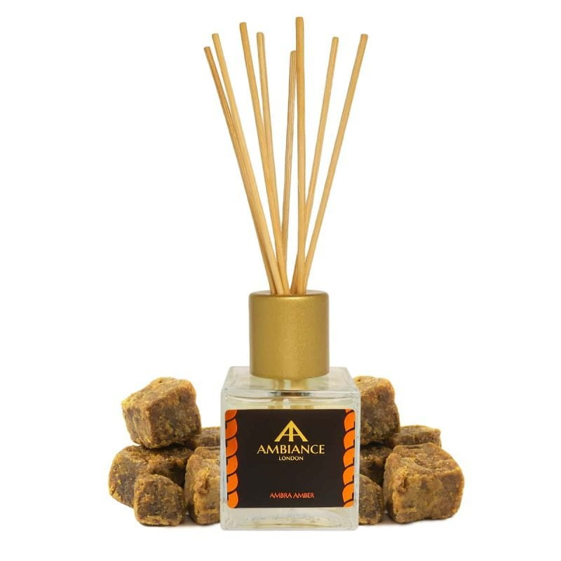 amber scented reed diffuser - amber reed diffuser - ambra reed diffuser - home fragrances ancienne ambiance