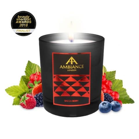 ancienne ambiance bacca berry luxury scented candle - limited edition - beauty short list awards
