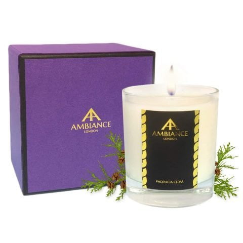 ancienne ambiance - Phoenicia Luxury Candle - Cedar Scented Candle with giftbox