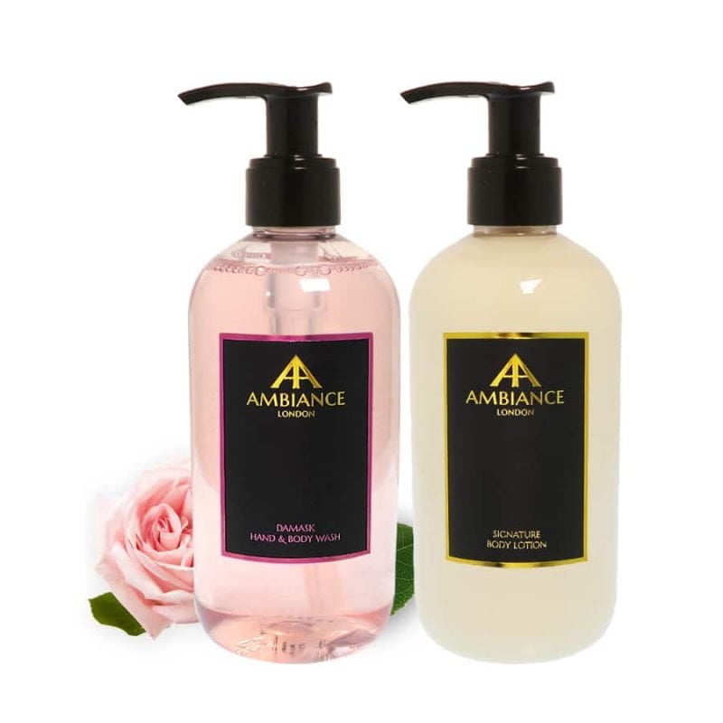 ancienne ambiance luxury rose hand wash and lotion set - luxury hand lotion set