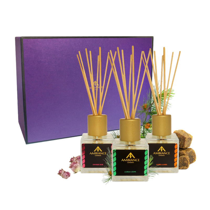 Luxury Home Fragrance Diffuser Trio Gift Set - ancienne ambiance