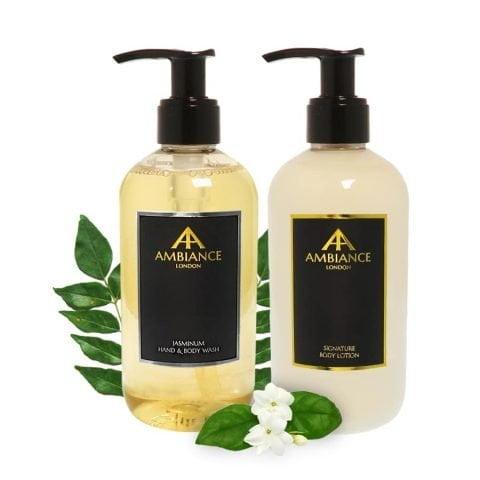 ancienne ambiance luxury jasmine hand wash and lotion set - luxury hand lotion set