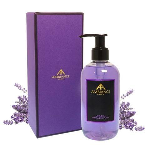 ancienne ambiance purple lavendula lavender hand wash - lavender hand and body wash - luxury lavender body wash giftboxed