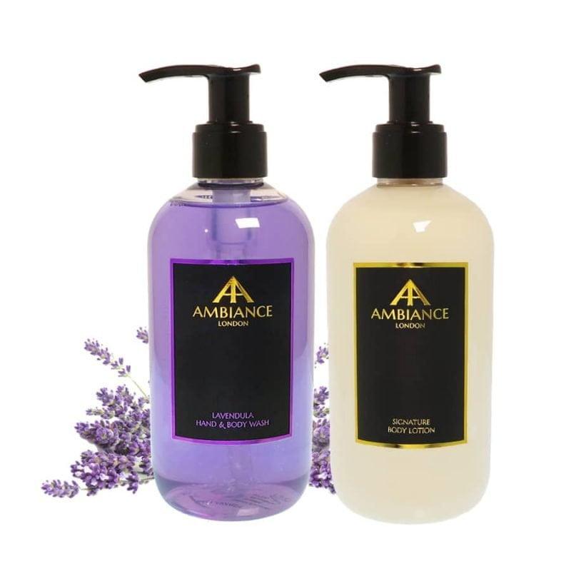 ancienne ambiance luxury lavender hand wash and lotion set - luxury hand lotion set