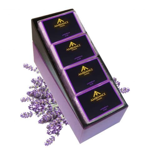 ancienne ambiance lavendula lavender soap bar set - lavender soap set - luxury lavender soap set