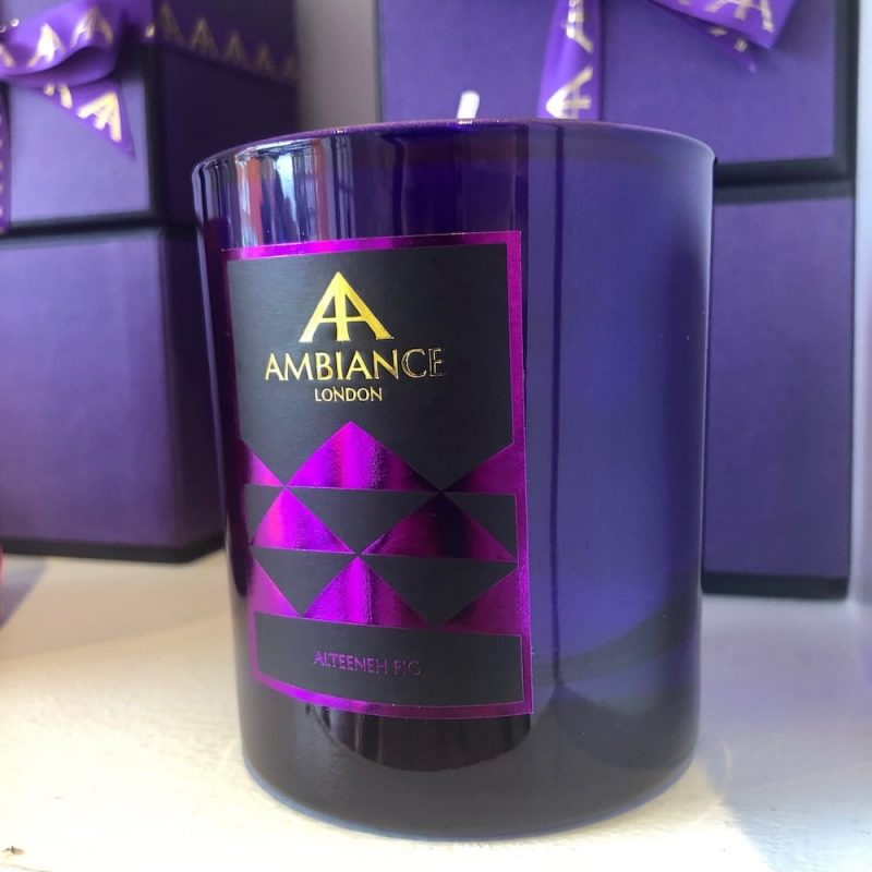 ancienne ambiance limited edition alteeneh luxury scented candle - purple fig scented candle shelfie