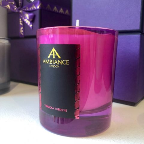 ancienne ambiance limited edition tuberosa luxury scented candle - pink tuberose scented candle shelfie