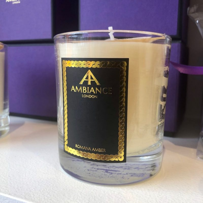 ancienne ambiance luxury scented candles - romana amber candle shelfie