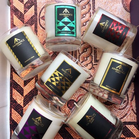 ancienne ambiance luxury scented candles - signature scented candles flatlay
