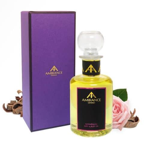ancienne ambiance rosandalum luxury bath oil - luxury body oil - rose bath oil