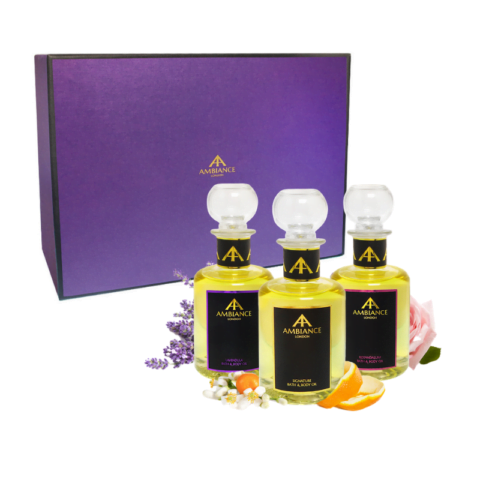 Bath and Body Oils Trio Deluxe Gift Boxed Set
