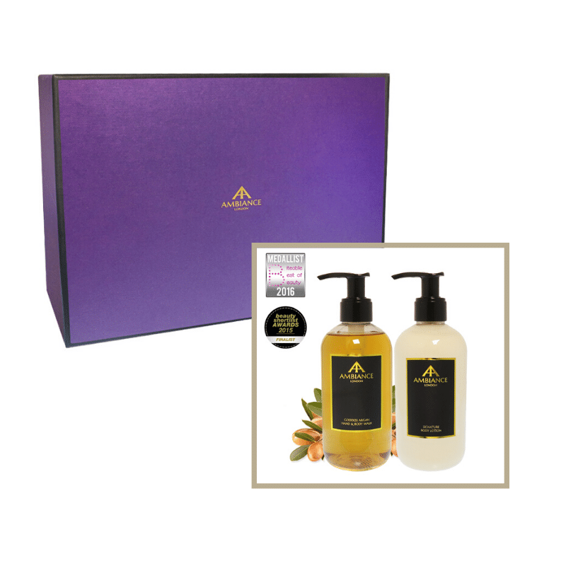 beauty gift set- argan hand wash and lotion giftboxed set - ancienne ambiance