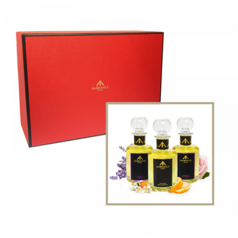 festive beauty set - luxury aromatherapy oils - luxury bath oils - luxury body oils gift set - ancienne ambiance giftboxed set