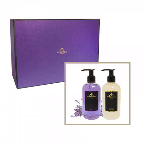 beauty gift set- lavender hand wash and lotion giftboxed set - ancienne ambiance