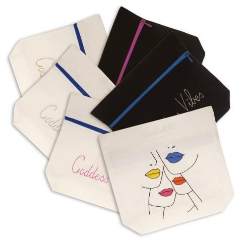 Ancienne Ambiance X Melissa Wear Your Heart Pouches - Goddess Vibes Beauty Bags - Embroidered Pouches