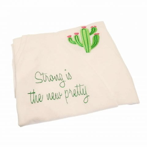 ancienne ambiance london -Melissa Wear Your Heart - Strong Is The New Pretty Embrodered T-shirt folded