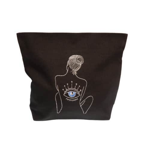 ancienne ambiance x melissa wear your heart goddess vibes black eye of horus pouch