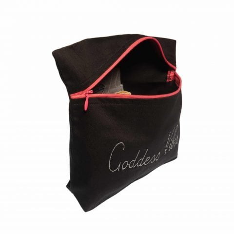ancienne ambiance x melissa wear your heart goddess vibes black lips pouch
