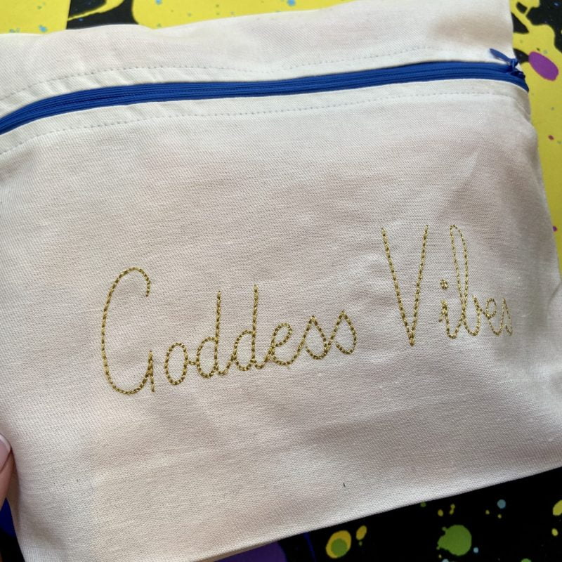 ancienne ambiance - goddess vibes pouch - evil eye - eye of horus bag - melissa wear your heart collaboration