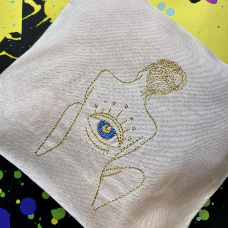 ancienne ambiance - goddess vibes pouch - evil eye bag - eye of horus bag - melissa wear your heart collaboration