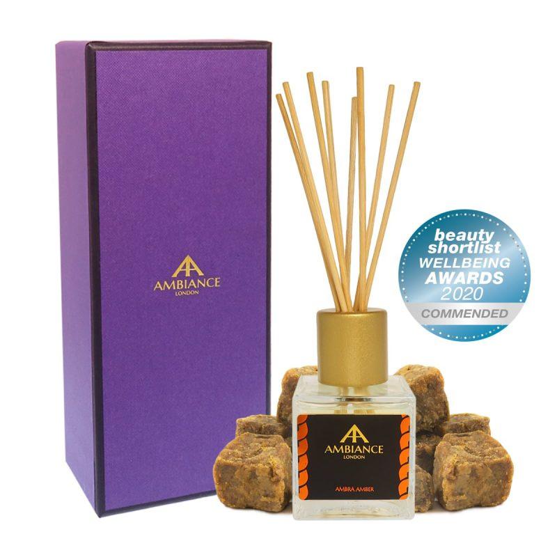ancienne ambiance london - ambra amber reed diffuser - beauty shortlist award winner - wellbeing awards