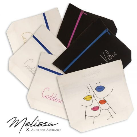 ancienne ambiance accessories - embroidered pouches - melissa wear your heart embroidery design