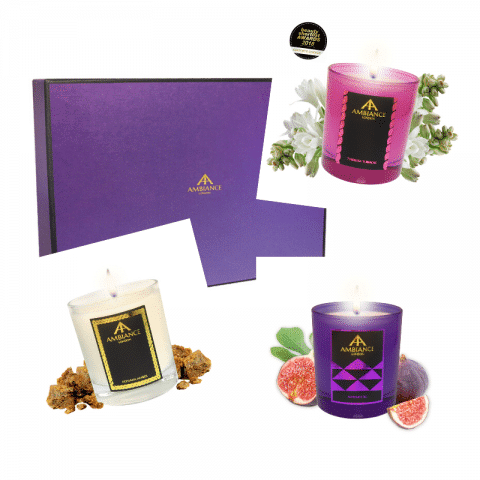 ancienne ambiance london - personalised candle gift sets - bespoke scented candles set