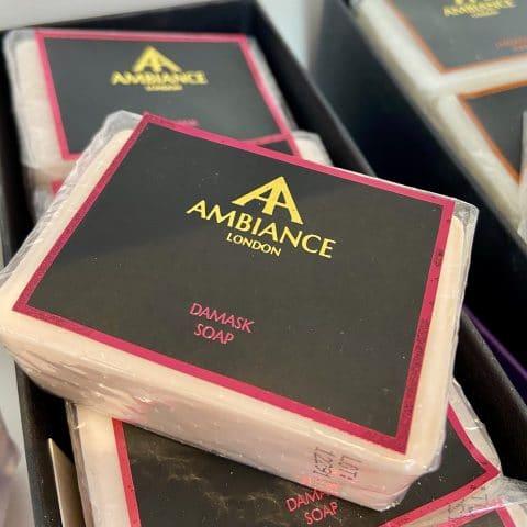 ancienne ambiance london - luxury soap bar - Damask rose soap - moisturising soap