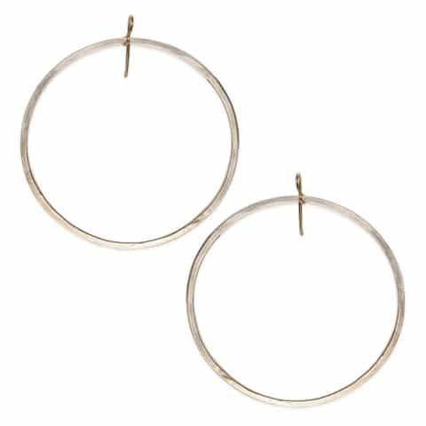 claire van holthe silver hoop earrings - extra large silver hoop earrings - ancienne ambiance london