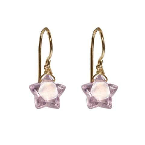 claire van holthe amethyst star earrings - star earrings - ancienne ambiance london