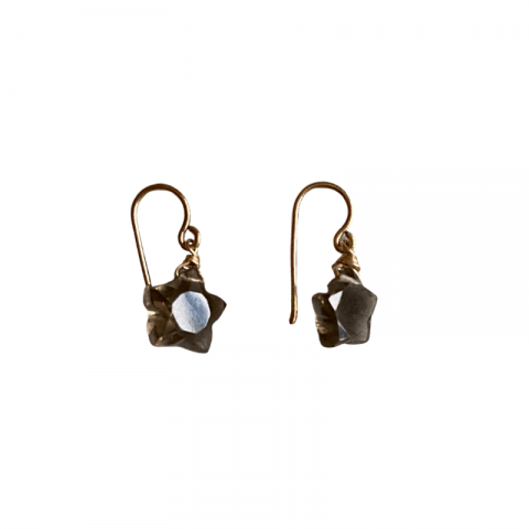ancienne ambiance - claire van holthe smokey quartz star earrings