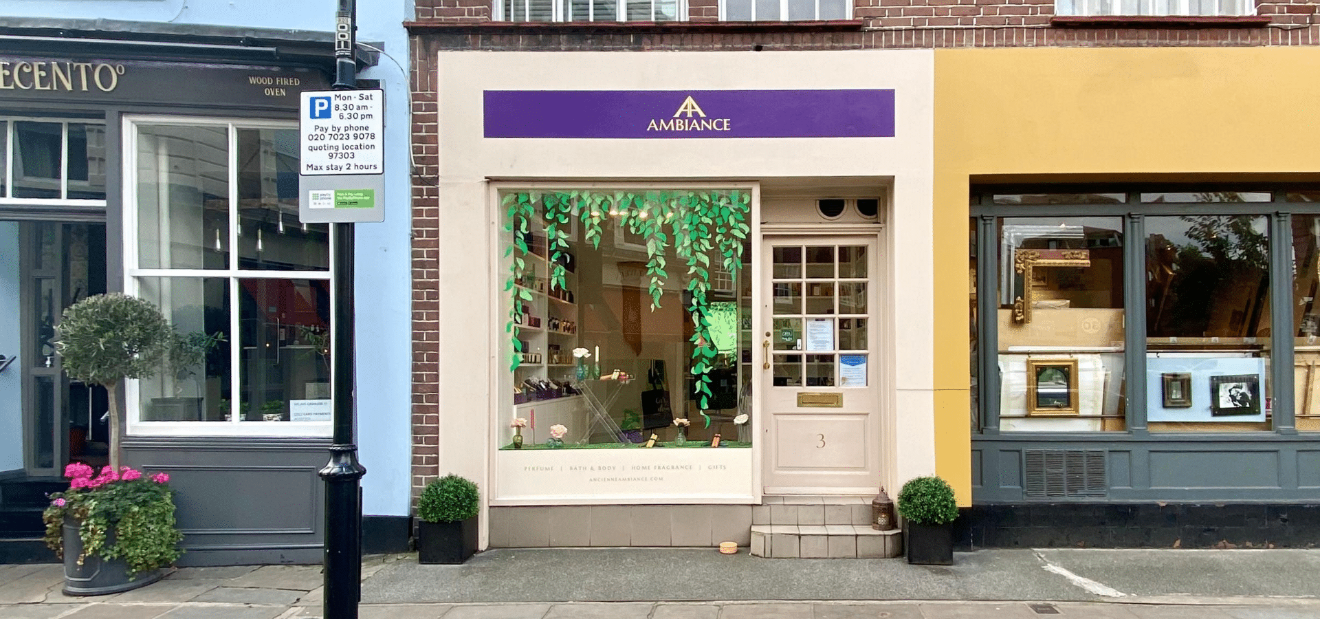 ancienne ambiance luxury scented candles and luxury gifts heart of Chelsea, London - goddess shop front - beauty shortlist awards winners