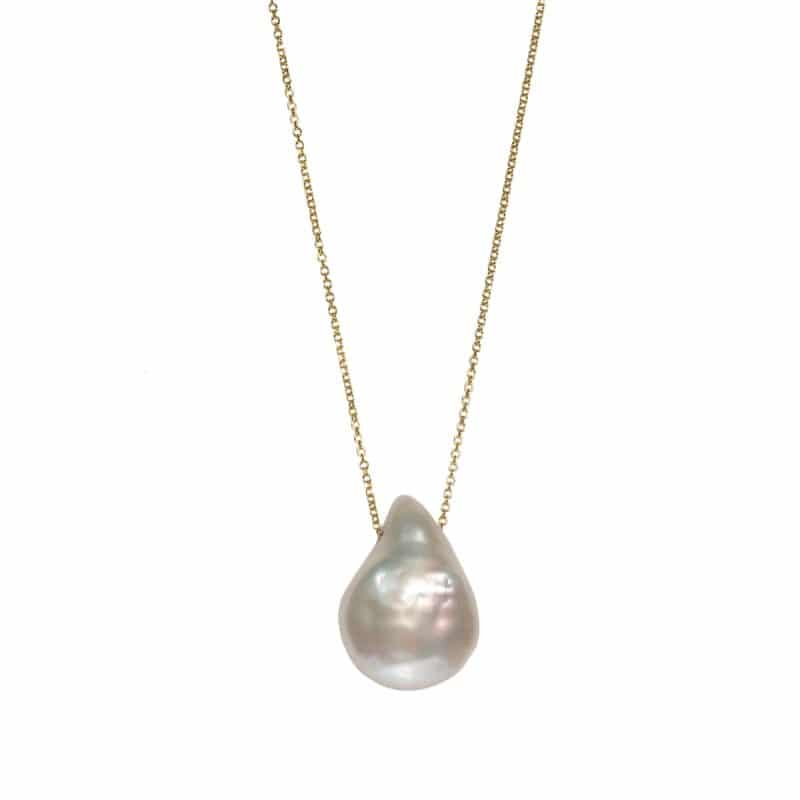 Maximos Zachariadis - baroque pearl pendant necklace - south sea pearl necklace - ancienne ambiance jewellery