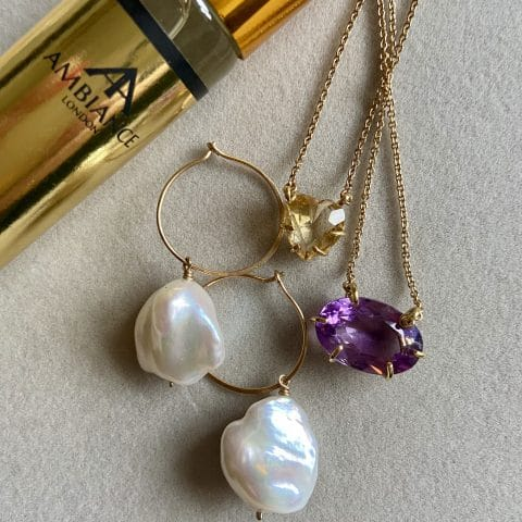 south sea pearl earrings - gem stone necklaces - ancienne ambiance