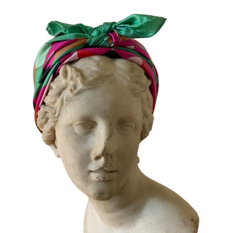 goddess ariadne silk scarf 90x90cm - ancienne ambiance - head scarf