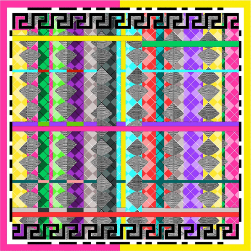 greek key square silk twill scarf - ancienne ambiance luxury scarves - aphrodite pink print scarf - greek key cashmere blend shawl scarf